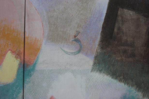 Eine Detailansicht des Altarbildes: Die Sichel