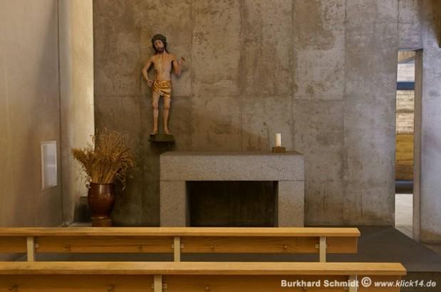 """Der Altar in der Beichtkapelle mit dem """"Schmerzensmann"""""""