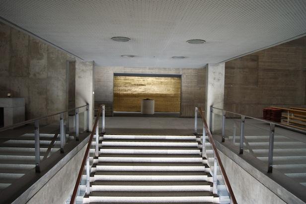 Die Treppe zur Oberkirche und die Taufkapelle