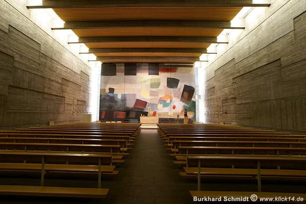 Der Blick in den gesamten Innenraum der Oderkirche